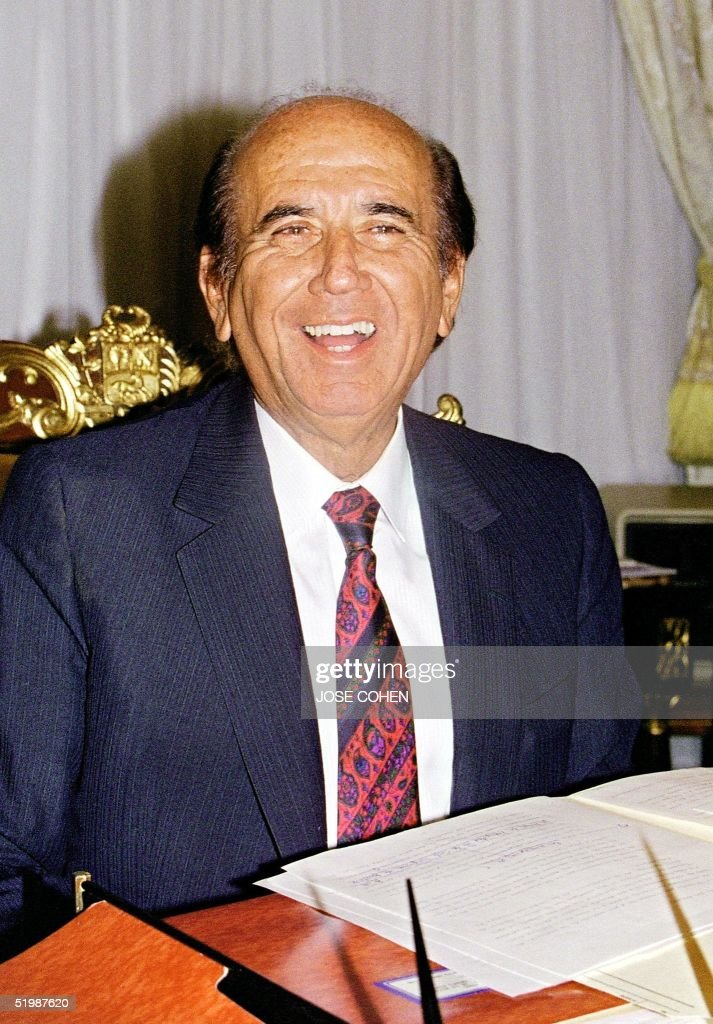 This file photo dated 19 May 1993 shows expresident of Venezuela Carlos Andres Perez in Caracas Venezuela The Dominican Republic where Perez resides...