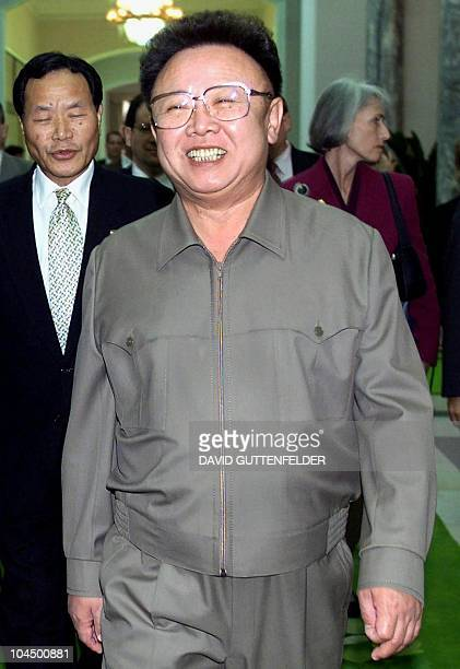 STORY 'NKOREANUCLEARKIM' This file photo dated 23 October 2000 shows North Korean leader Kim JongIl walking towards a conference room at the Pae Kha...