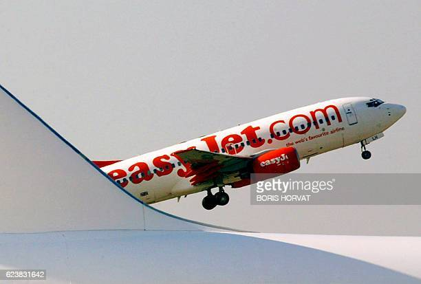 This file photo dated 27 October 2003 shows Boeing 737700 of lowcost British carrier EasyJet taking off from Marignane airport during the opening of...