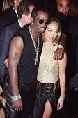 This file photo shows rap artist Sean 'Puff Daddy' Combs and singer/actress Jennifer Lopez arriving for the MTV Video Music Awards at the...