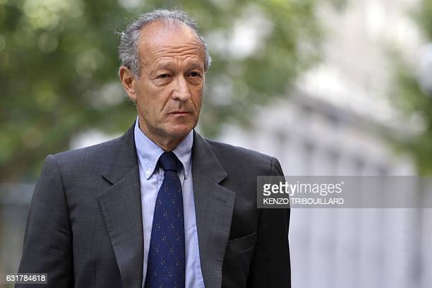 This file photo taken on July 08 2013 shows Thierry Gaubert a former advisor of former French President in the 90's arriving in Paris for a hearing...