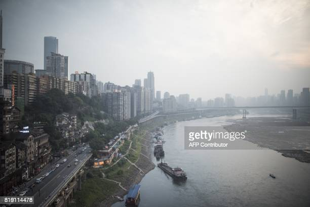 This file photo taken on May 31 2017 shows a general view of the Yangtze river in Chongqing A sudden leadership change in one of China's biggest...