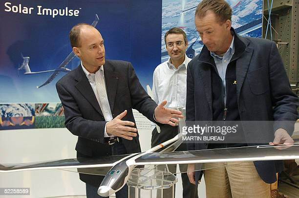 STORY 'SWITZERLANDSUNADVENTUREENERGY' This file picture dated 23 November 2004 shows Swiss scientistadventurer Bertrand Piccard the first man to ever...