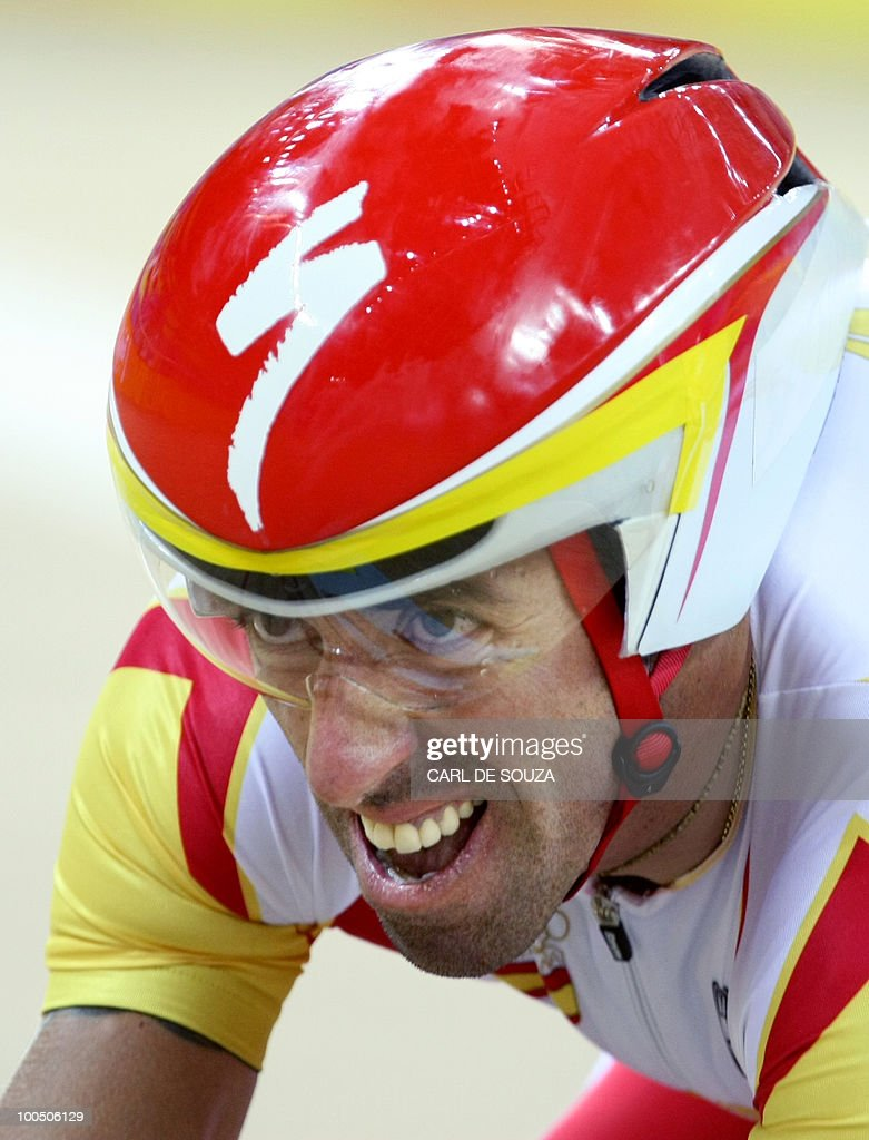 This file picture dated August 16, 2008 shows track cyclist Antonio Tauler of Spain competing in the 2008 Beijing Olympic Games men's individual pursuit first round at the Laoshan Velodrome in Beijing. Spanish track cyclist Toni Tauler, a silver medal winner at the Beijing Olympics, has tested positive for a banned substance, Spanish media said on May 25, 2010.