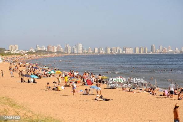 This file picture shows a general view of a beach near downtown Punta del Este Maldonado 140 km east of Montevideo on January 8 2010 Punta del Este...