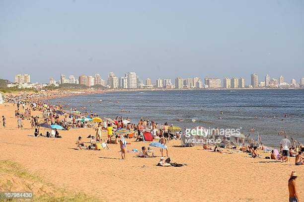 This file picture shows a general view of a beach near downtown Punta del Este Maldonado 140 km east of Montevideo on January 8 2010 Punta del Este...