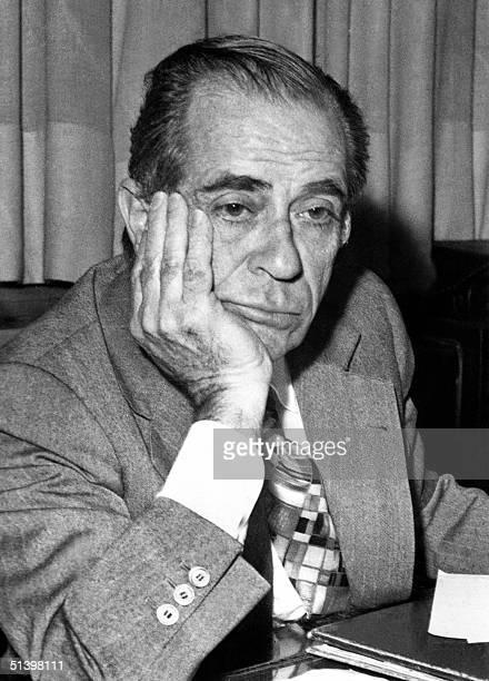 This file picture taken 16 may 1976 shows former Lebanon Interior Minister Raymond Edde in Beirut Edde a prominent antiSyrian Christian opposition...