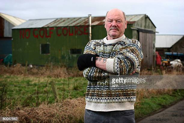 This file picture taken 27 November 2007 shows Scottish fisherman Michael Forbes on his estate near Balmedie Aberdeenshire in Scotland A full public...