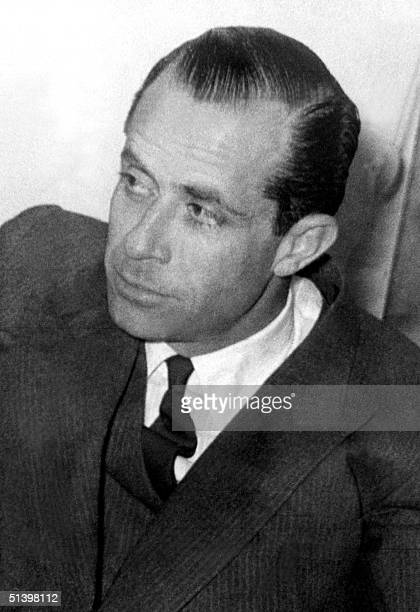This file picture taken in 1964 shows Lebanon politician Raymond Edde in Beirut as he was candidate to the Lebanon presidential elections Edde a...
