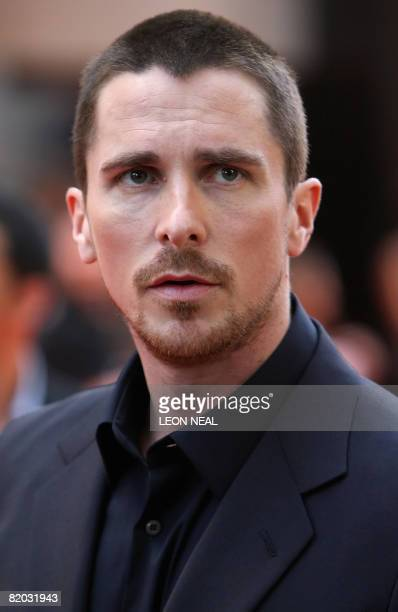 This file picture taken on July 21 2008 in London shows actor Christian Bale arriving at the European premiere of 'The Dark Knight' directed by...