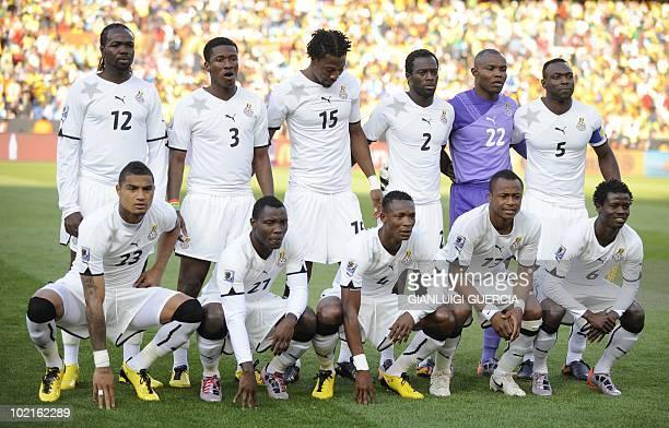 This file picture taken on June 13 2010 at Loftus Verfeld stadium in Tshwane/Pretoria shows Ghana's national football team striker Prince Tagoe...