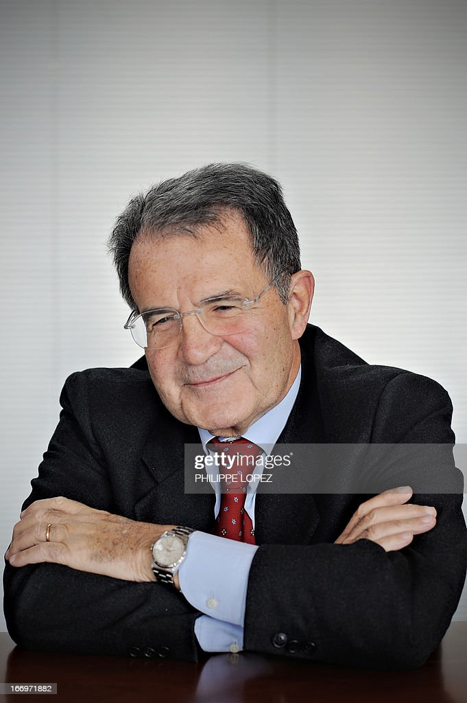 This file picture taken on March 10, 2010 shows former European Commission president Romano Prodi smiling during an interview in Shanghai. Italy's centre-left said on April 19, 2013 it would back former prime minister Romano Prodi for president in a move likely to spark a fierce battle with the centre-right and dim hopes of an end any time soon to the two-month deadlock on forming a new government. AFP PHOTO / FILES / PHILIPPE LOPEZ