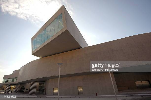 This file picture taken on November 12 2009 in Rome shows people walking by the National Museum of the XXI Century Arts the Maxxi during the...