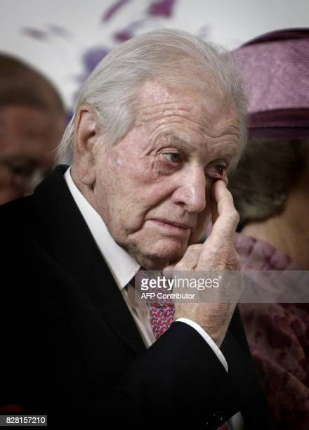 This file picture taken on October 20 2007 shows Jorge Zorreguieta gesturing during the christening of Princess Ariane in The Hague The Netherlands...