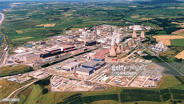 This file picture taken on September 26 2002 shows an aerial view of the Sellafield nuclear plant in North England Manning levels at the Sellafield...