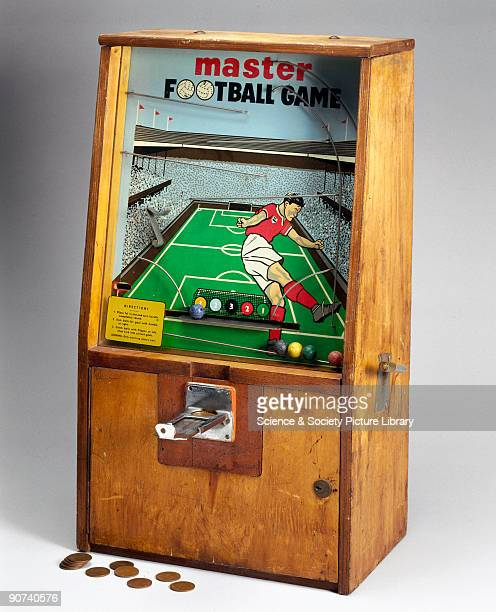 This football game is a tabletop coinoperated football goalscoring machine which used old pennies to operate it These games were popular in the...