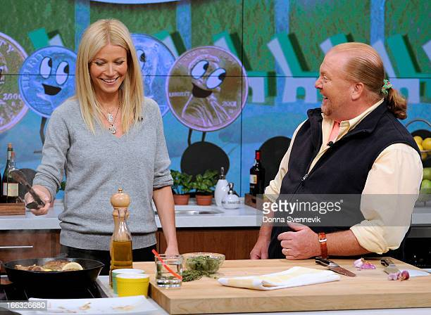 THE CHEW This Friday April 12 the cohosts welcome back film star Gwyneth Paltrow who talks about her new book helps cohost Mario Batali whip up a...