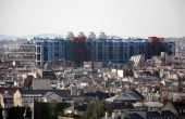 This general view of Paris taken on June 30 2009 shows Georges Pompidou Center museum AFP PHOTO LOIC VENANCE