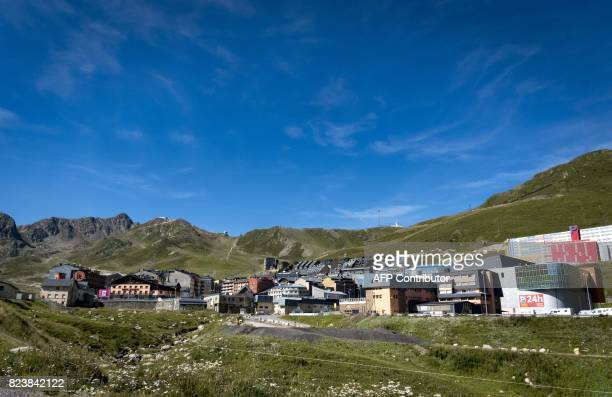This general view taken on July 27 shows houses in the town of Pas de la Casa in Andorra close to the border with France / AFP PHOTO / Eric CABANIS