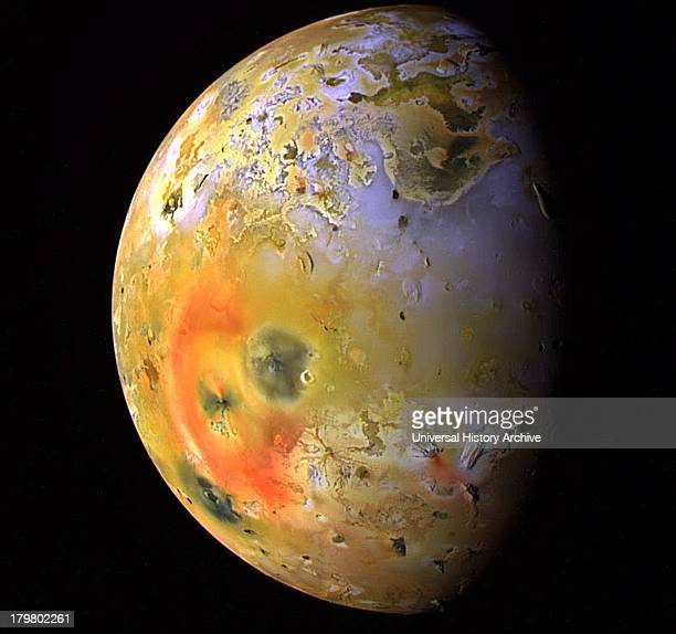 This global view of Jupiter's moon Io was obtained during the tenth orbit of Jupiter by NASA's Galileo spacecraft