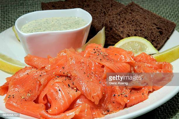 This Gravlax platter is from a recipe from the Silver Palate cookbook This is for a book review
