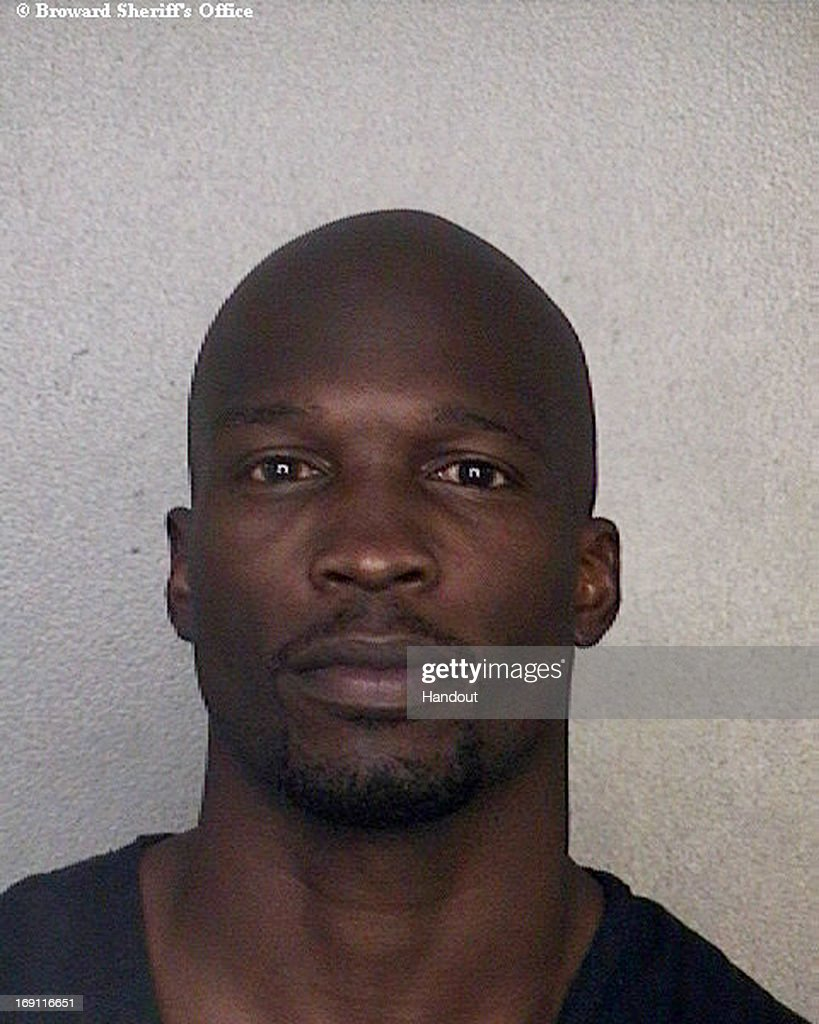 This handout booking photo provided by Broward County Sheriff's Office, shows ex-NFL star Chad Johnson, 35, after he was arrested for violating his probabtion, on May 20, 2013 in Fort Lauderdale, Florida. Johnson's probation came from a domestic violence conviction involving ex-wife Evelyn Lozada last year.