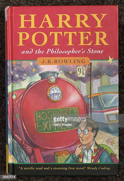 This handout from Christie's shows the cover of J K Rowling's first novel Harry Potter And The Philosopher's Stone Fine printed books and manuscripts...