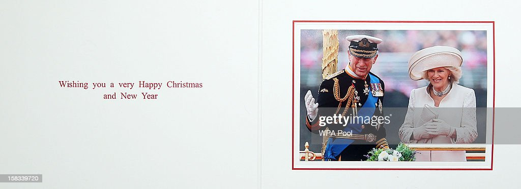 KINGDOM - This handout image released on December 14, 2012 by Clarence House shows the 2012 Christmas card of <a gi-track='captionPersonalityLinkClicked' href=/galleries/search?phrase=Prince+Charles&family=editorial&specificpeople=160180 ng-click='$event.stopPropagation()'>Prince Charles</a>, Prince of Wales and Camilla, Duchess of Cornwall. Clarence House are asking that publications which use the photograph consider making a modest donation to The Prince of Wales's Charitable Foundation - donations should be made payable to The Prince of Wales's Charitable Foundation and be sent to Amanda Foster at The Prince of Wales and The Duchess of Cornwall's Press Office, Clarence House, London SW1A