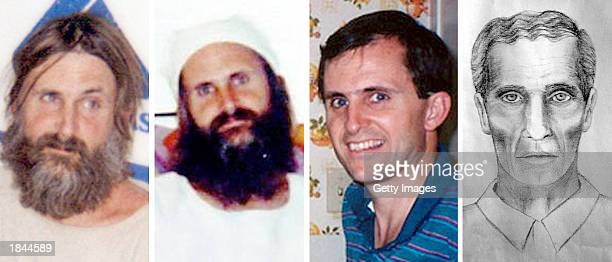 This handout image showing a compilation of images of a man identified as Brian David Mitchell was released by the Smart family February 18 2003 in...