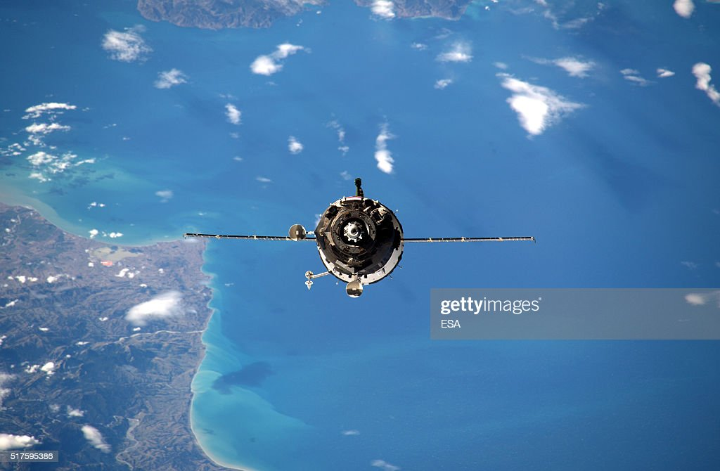 This handout image supplied by the European Space Agency (ESA), shows a view of Soyuz 46S as it approaches the International Space Station, March 20, 2016. ESA astronaut Tim Peake is performing more than 30 scientific experiments and taking part in numerous others from ESA's international partners during his six-month mission, named Principia, after Isaac Newtons ground-breaking Naturalis Principia Mathematica, which describes the principal laws of motion and gravity.
