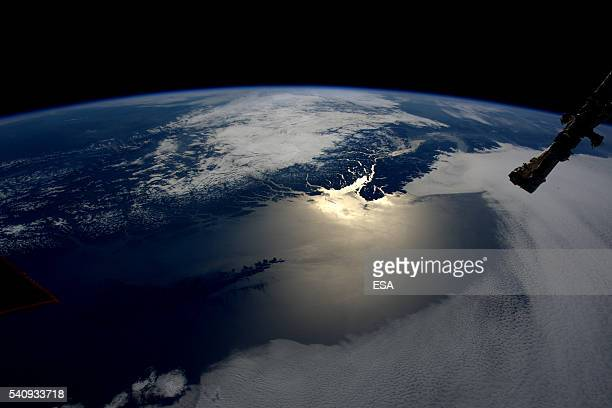 This handout image supplied by the European Space Agency shows an aerial view over Vancouver island from the International Space Station on May 12...