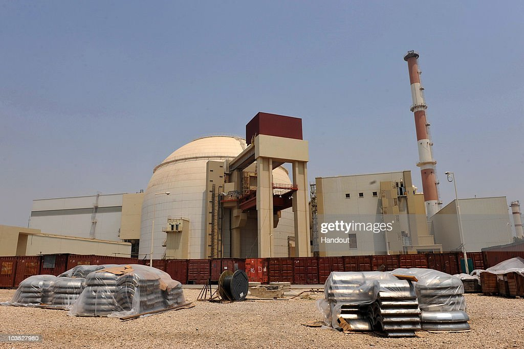 This handout image supplied by the IIPA shows a view of the reactor building at the Russianbuilt Bushehr nuclear power plant as the first fuel is...