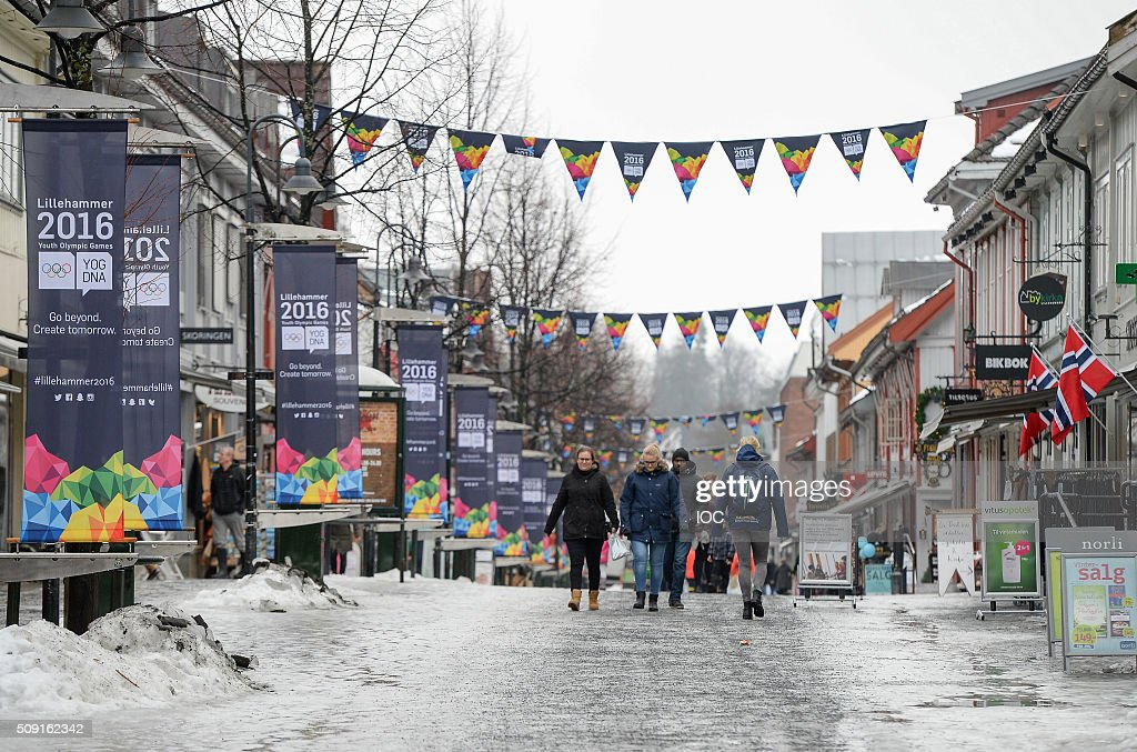 This handout image supplied by the IOC shows a general view of the town centre of Lillehammer with three days to go before the 2016 Winter Youth Olympic Games on February 9, 2016 in Lillehammer, Norway.