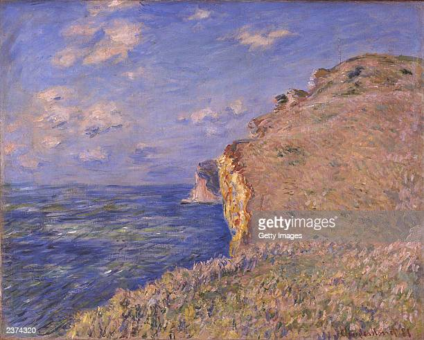 This handout photo from The National Gallery of Scotland shows a painting entitled 'The Cliff at Fecamp' by the artist Monet The Edinburgh gallery is...