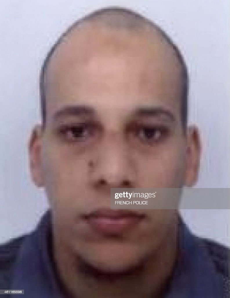 This handout photo released by French Police in Paris early on January 8, 2015 shows Cherif Kouachi, aged 32, a suspect wanted in connection with an attack at a satirical weekly in the French capital that killed at least 12 people. French police on January 8 published photos of Cherif Kouachi and his brother, wanted as suspects over the bloody massacre at the magazine in Paris, as they launched an appeal to the public for information. AFP PHOTO / FRENCH POLICE-- EDITORS NOTE --- RESTRICTED TO EDITORIAL USE -- MANDATORY CREDIT 'AFP PHOTO / FRENCH POLICE' NO MARKETING - NO ADVERTISING CAMPAIGNS -- DISTRIBUTED AS A SERVICE TO CLIENTSFRENCH POLICE/AFP/Getty Images