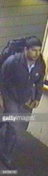 This handout photo released by the Metropolitan Police on July 14 2005 shows a CCTV image of Hasib Hussain seen at Luton station on July 7 2005...
