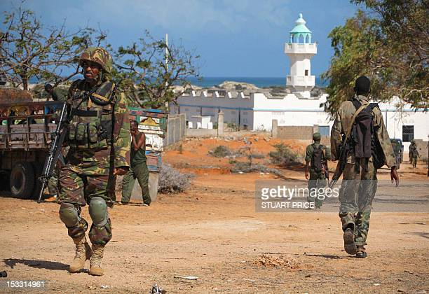 This handout photograph released by the African UnionUnited Nations Information Support Team on October 3 2012 shows a soldier serving with the...