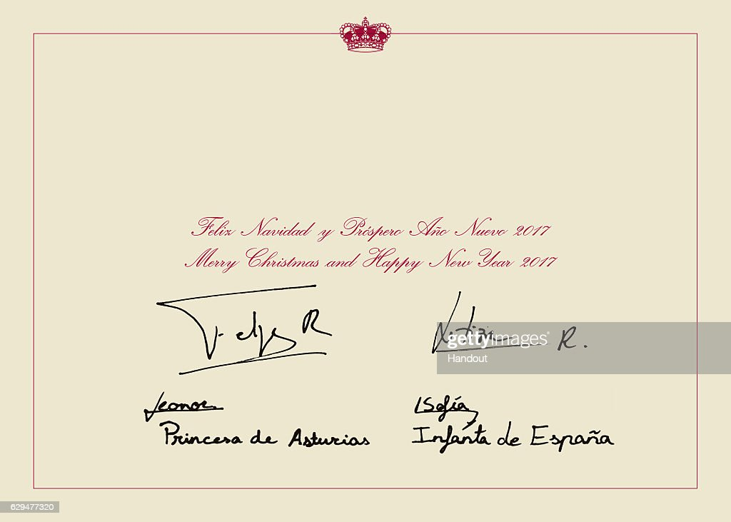 This handout picture provided by the Royal House Press department on December 13, 2016, shows the personal Christmas card of Their Majesties the King and the Queen, Her Royal Highness the Princess of Asturias and Her Royal Highness the Infanta Don Sofia, taken at the end of November in the Palace of La Zarzuela by the team of Photography of the House of His Majesty the King.