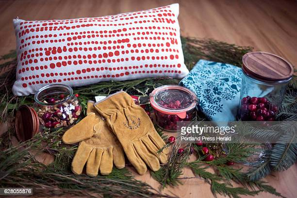 This holiday season you can give loved ones small sustainably oriented gifts Seen here Americanmade leather Womanswork gloves Wrek jars a handprinted...