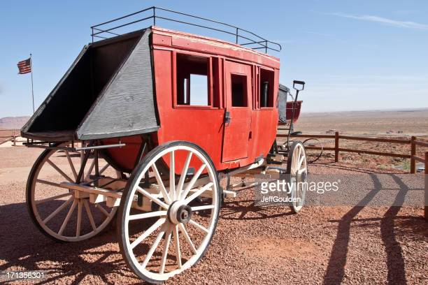 Old West Horse Drawn Stagecoach