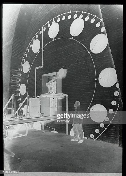 This huge clock believed to be the largest in Europe is the sign of prosperity of the Siemens Electrical Works in Berlin Germany where it surmounts...