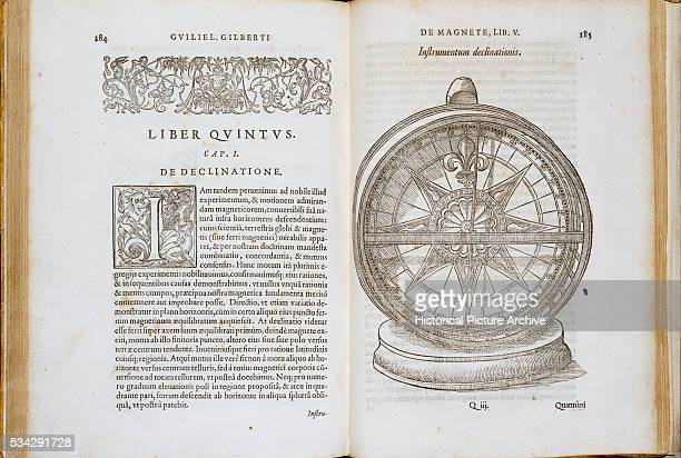 This illustration is from the book William Gilbert published called De Magnete in 1600 The book explained magnetic theory The compass shown is dated...