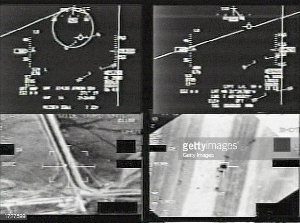 This image from a US Department of Defense handout video shows the gun camera view from two US fighter planes whose pilots say they thought they were...