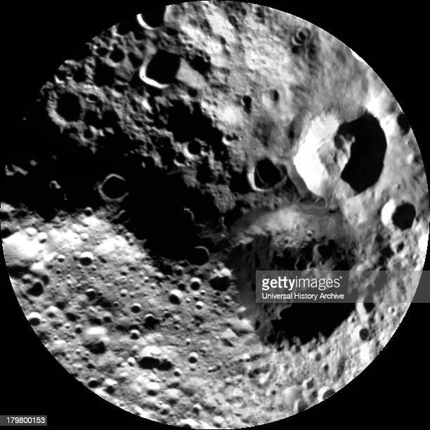 This image from NASA's Dawn mission shows a shadowy view of the northern hemisphere of the giant asteroid Vesta using pictures obtained during Dawn's...