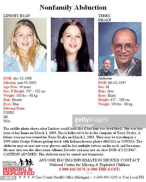 This image from the National Center for Missing and Exploited Children's Web site shows information and images in an Amber Alert for missing teen...