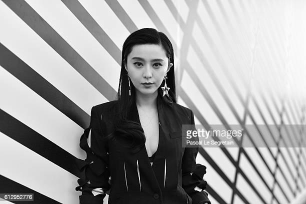 This image has been converted to Black and White Fan Bingbing attends the Louis Vuitton show as part of the Paris Fashion Week Womenswear...