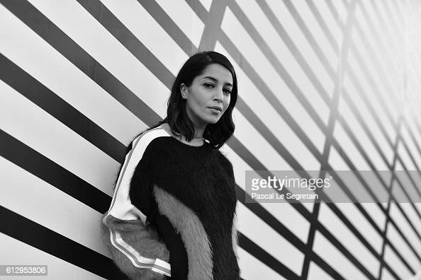 This image has been converted to Black and White Leila Bekhti attends the Louis Vuitton show as part of the Paris Fashion Week Womenswear...