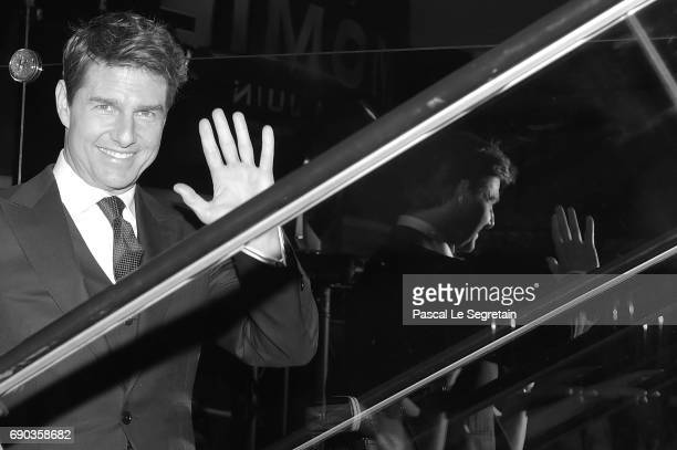 This image has been converted to black and white Tom Cruise attends 'The Mummy La Momie' Paris Premiere at Le Grand Rex on May 30 2017 in Paris France