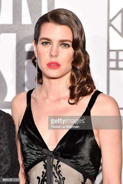 This image has been retouched Charlotte Casiraghi attends the Rose Ball 2017 To Benefit The Princess Grace Foundation at Sporting MonteCarlo on March...
