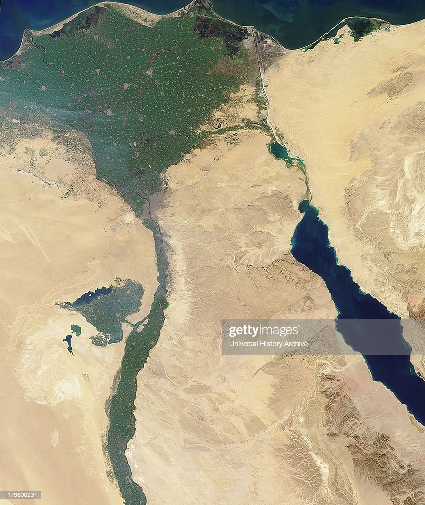 This image of the northern portion of the Nile River was captured by MISR's nadir camera on January 30 2001